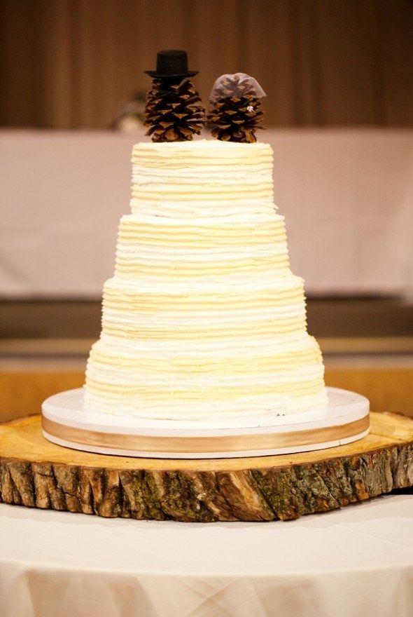 cake-topper-rustique-pomme-de-pin