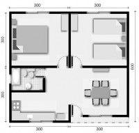 4 plano de casa 2 dormitorios