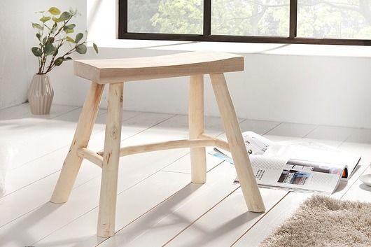meble - pufy, stołki, ławy-Taboret siedzisko Country drewno 40cm