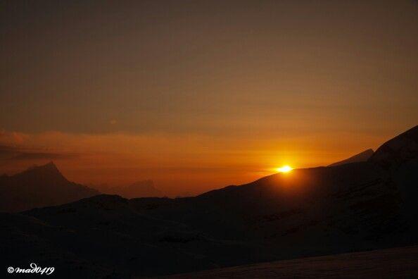 Sonnenuntergang in den Pragser Dolomiten