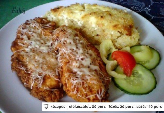 Tejfölben pácolt csirkemell tepsis reszelt krumplival
