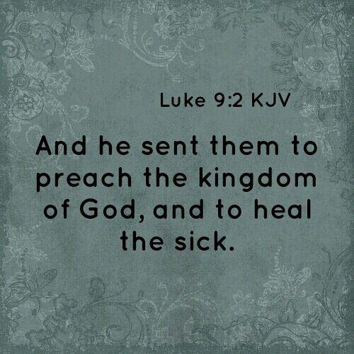 Luke 9:2 KJV