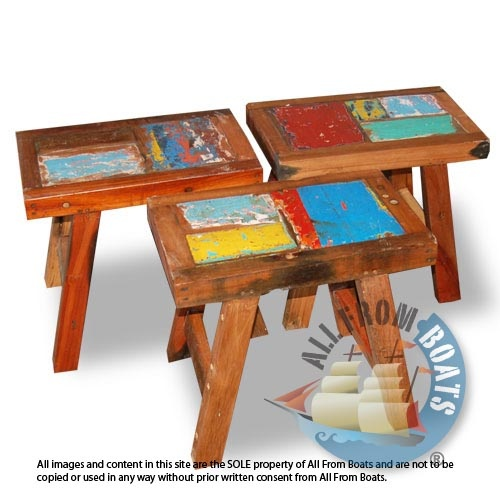 Bench Patchwork Made From Reclaimed Boat Timber. Nautical, Recycled,  Reclaimed, Boatwood,