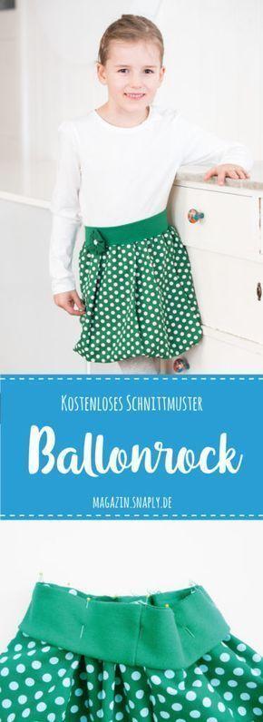 Kostenloses Schnittmuster: Ballonrock