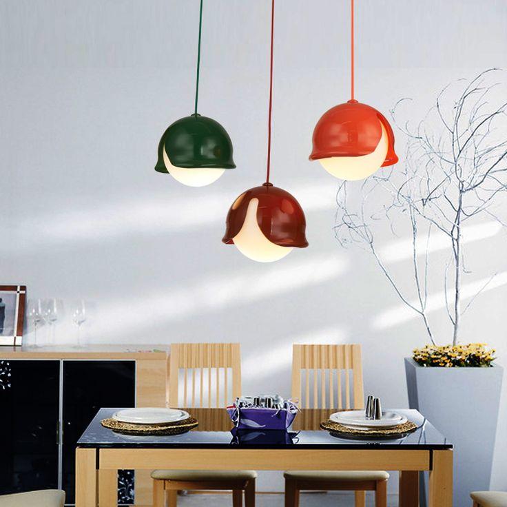 Art pendant cheerhuzz 350 pinterest nordic creative colorful single head pendant lamp simple art mozeypictures Choice Image