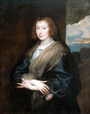 Антонис ван Дейк. Портрет женщины с розой