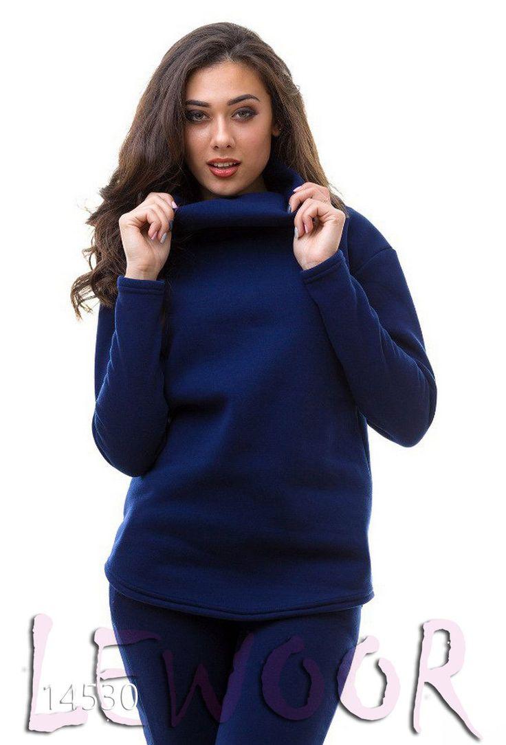 Тёплый костюм брюки с туникой трёхнить с начесом - купить оптом и в розницу, интернет-магазин женской одежды lewoor.com