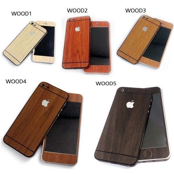 Full Body Screen Protector Skin Vinyl Sticker Wood Wrap for Apple iPhone 5 5s  #WOWKOREA
