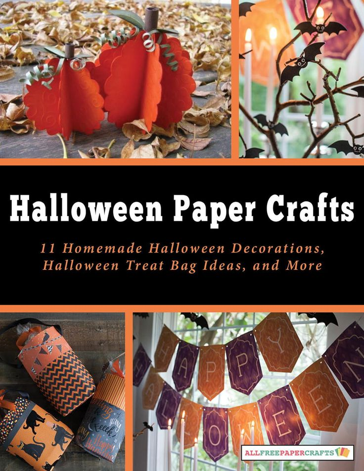 Halloween Paper Crafts: 11 Homemade Halloween Decorations, Halloween Treat Bag Ideas, and More free eBook | AllFreePaperCrafts.com