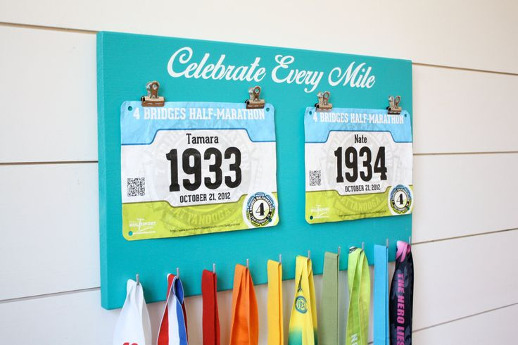 Running Race Bib and Medal Holder - Celebrate Every Mile