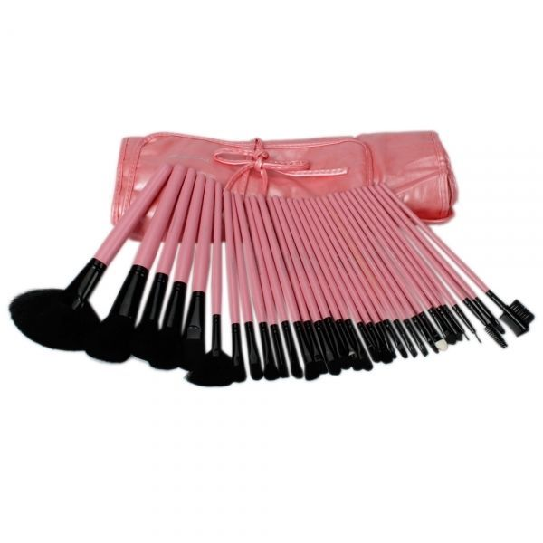 32pcs Professional Cosmetic Makeup Brush Set with Free Bag Pink + FREE SHIPPING