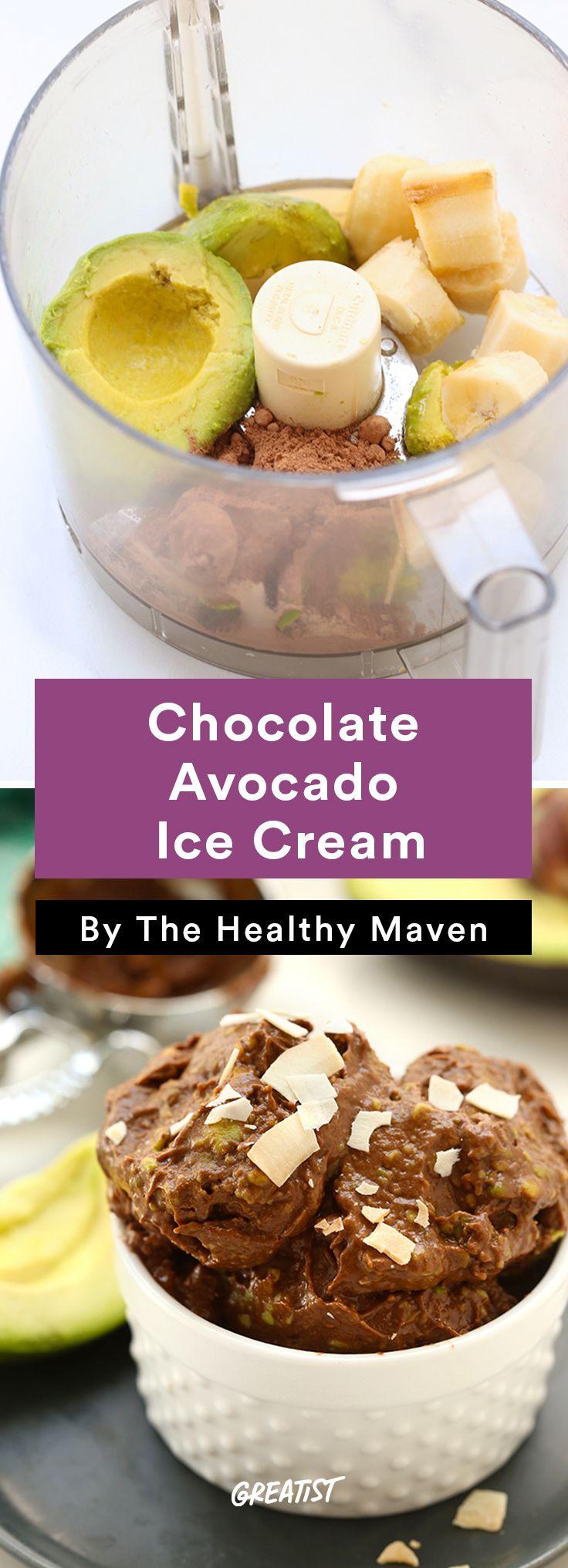 5. Chocolate Avocado Ice Cream #icecream #recipes http://greatist.com/eat/ice-cream-recipes-that-dont-require-fancy-equipment