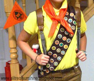 a litre of sunshine: Making My Halloween Costume: Russell the Wilderness Explorer