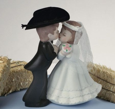 Western Couple Cake Topper | Western Cake Toppers | Bride Groom Cake Topper