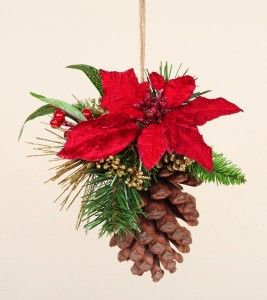 childrens crafts with pinecones | 13cm Christmas Wishes Pine Cone