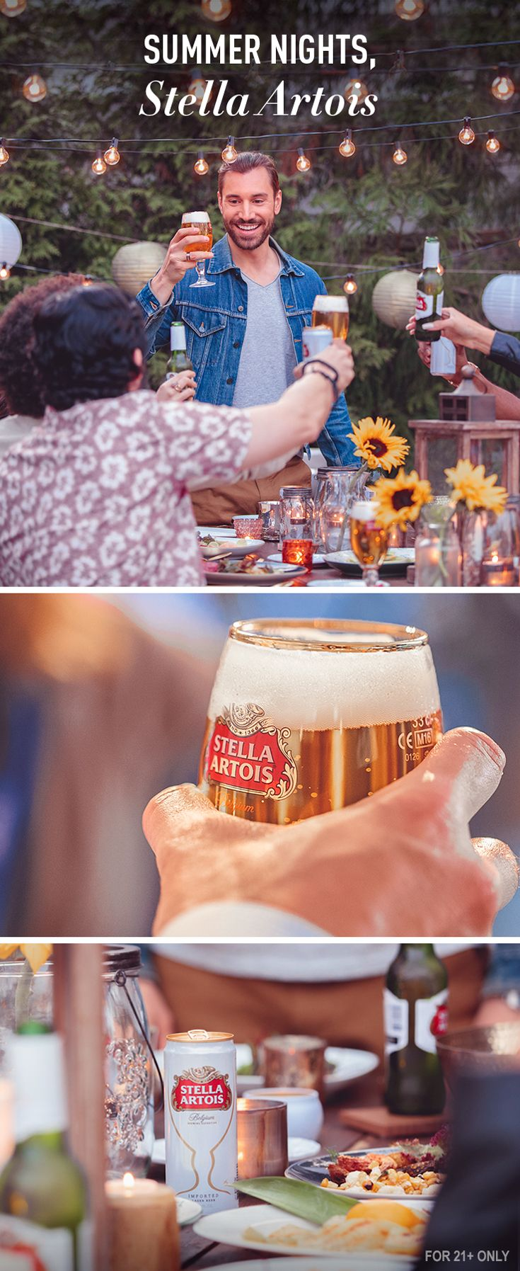 Every summer party should be special. With Stella Artois, feel inspired to make each warm night as memorable as the last. Encourage your guests to bring their own favorite dish, invite neighbors you've been meaning to meet, and share a playlist of classics everyone will enjoy.