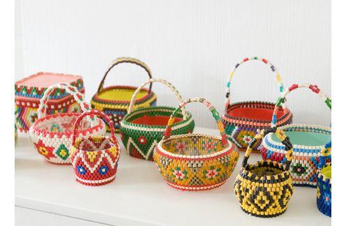 bead baskets: Košíky Baskets, Crafts Baskets, Pattern, Beads Baskets Cut, Sweet Baskets, Colors Baskets, Hama Beads, Easter Baskets, Baskets Collection