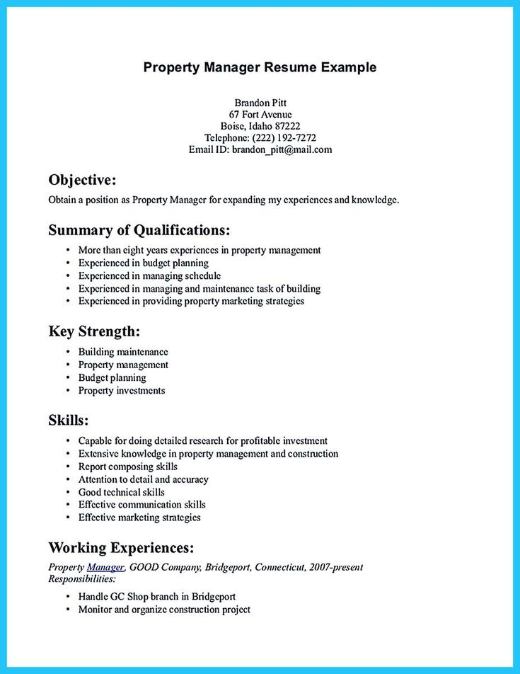 awesome Writing a Great Assistant Property Manager Resume, Check more at http://snefci.org/writing-great-assistant-property-manager-resume