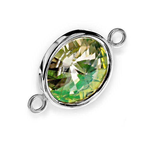 Link din argint 925, model cu bordură și cristal Swarovski Rivoli! Intră pe simoshop.ro și vezi mai multe! #argint #swarovski #simoshop