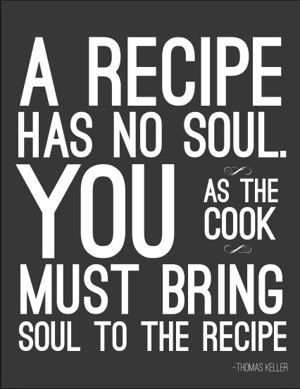 "Cattle Baron Mossel Bay brings you a pinch of inspiration and sprinkle of laughter with this inspiration ahead of our Sunday Buffet. ""A recipe has no soul, You as cook must bring soul to the recipe.""- Thomas Keller. We hope to see you at 12h00 for lunch. #inspiration #steakhouse #soulfood"