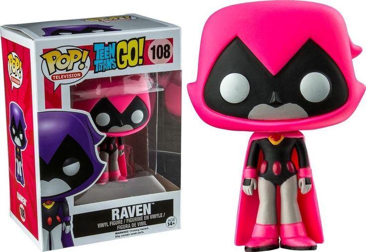 FUNKO POP Teen Titans GO! RAVEN Pink Version #108 Vinyl Figure
