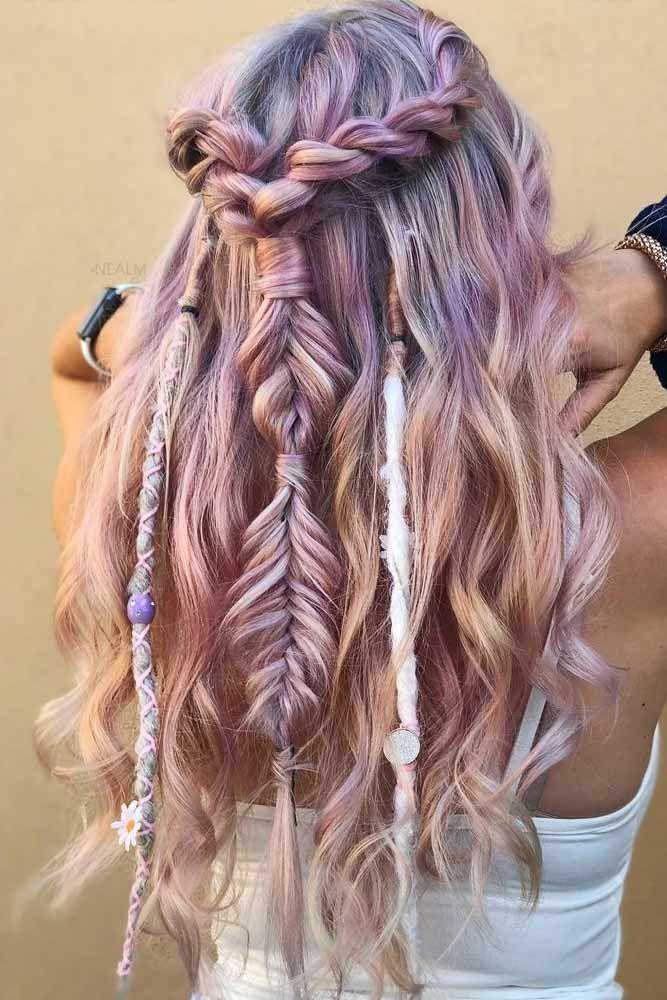 60 Best Bohemian Hairstyles That Turn Heads Festival Hair Hair Styles Half Up Hair