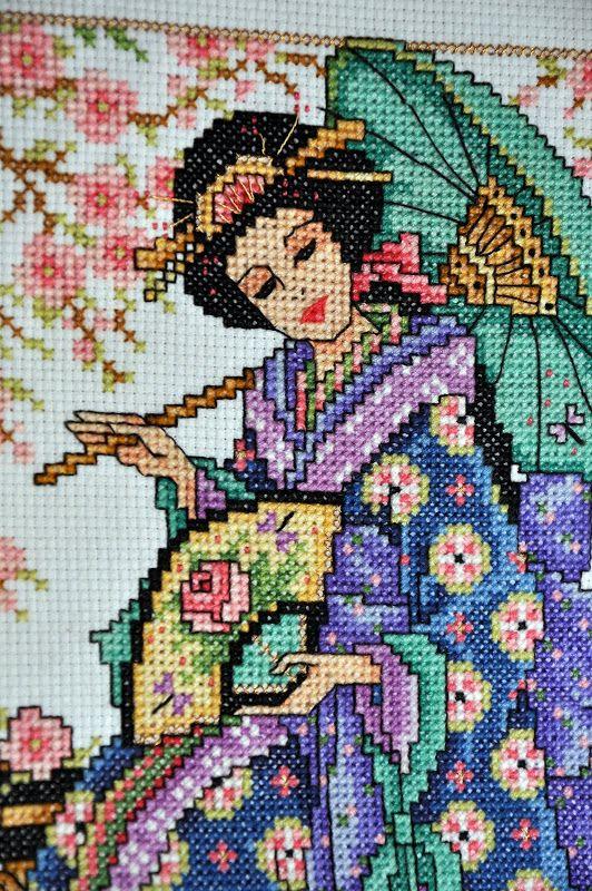 Geisha Cross Stitch - NEEDLEWORK