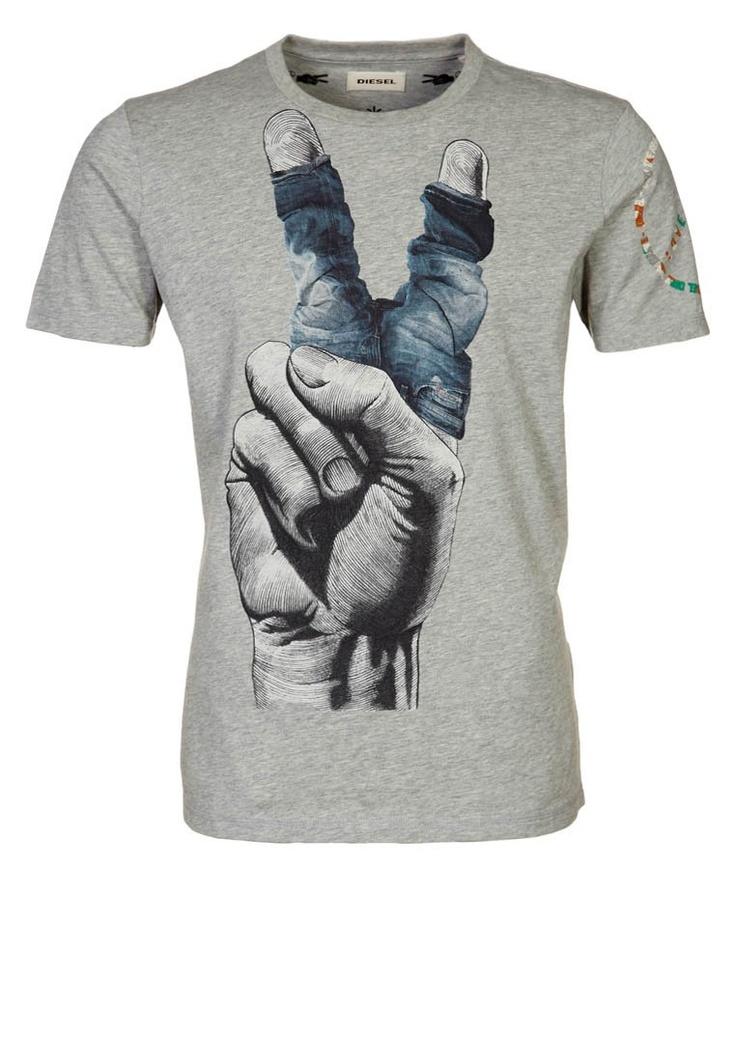 Diesel - LANCER - T-shirt print - Grijs