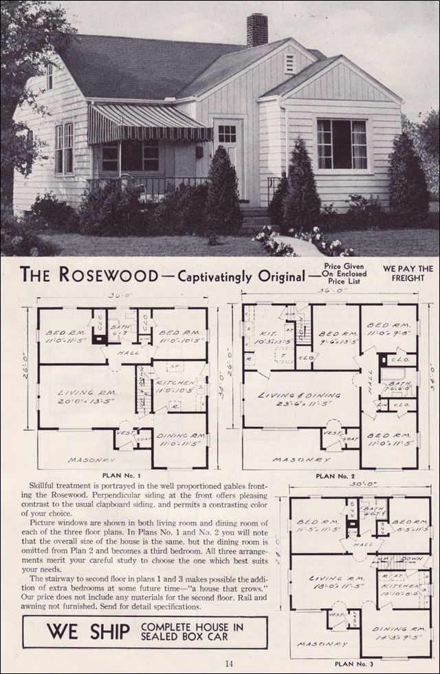 1951 Aladdin Kit Houses The Rosewood Vintage House