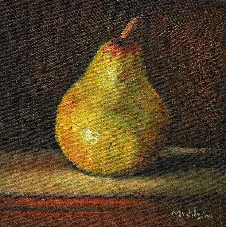 Original Oil Painting/ Marjorie Wilson/ Still Life - 'Small Pear'