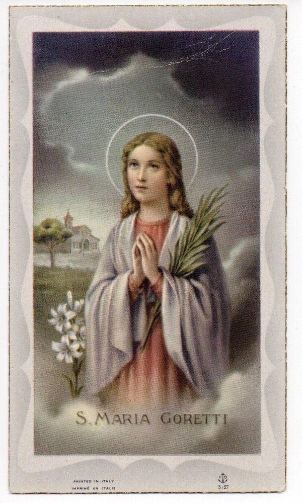 Vtg Antique S ST MARIA GORETTI Patron Purity ReligiousCatholic Holy Card Italy   eBay