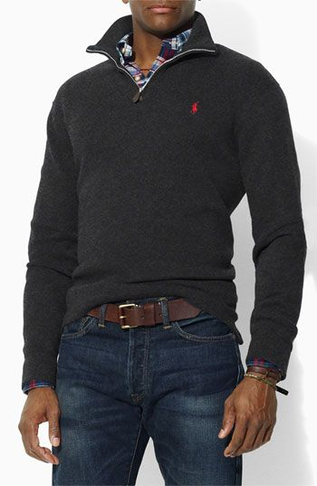 """For: boyfriend, brother, father. """"Horse power, all this Polo I got horsepower"""" :P Ralph Lauren Polo 1/4 zip sweater"""