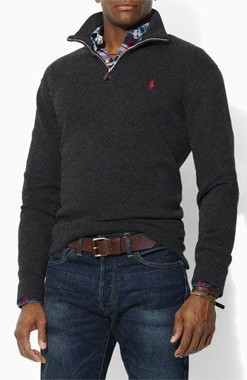 ". ""Horse power, all this Polo I got horsepower"" :P Ralph Lauren Polo 1/4 zip sweater"
