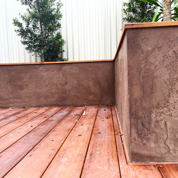 Antique rusted Marmorino on blue board, Paddington QLD By Wonder Wall Pty ltd