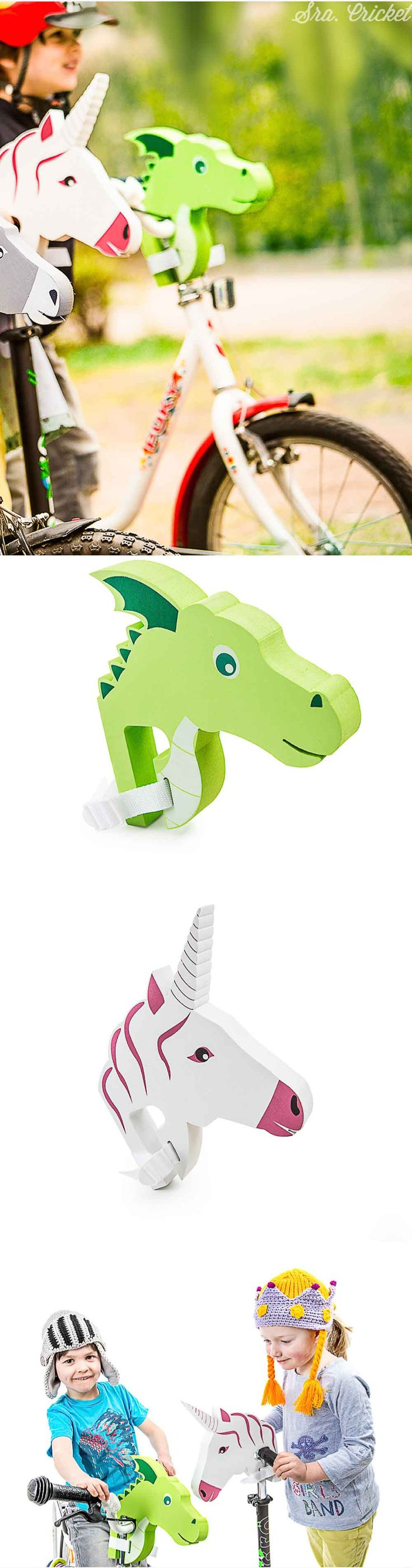 accesorio para bicicleta, accesorio para patinete #regalosparaniños Regalo para niños ideal #dragon #unicornio juguete