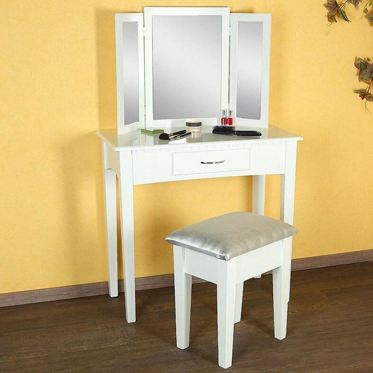 25 best ideas about white desk with drawers on pinterest for White vanity table with drawers