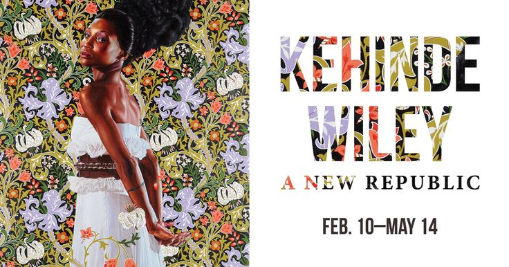 """Promotional image for the exhibition """"Kehinde Wiley: A New Republic"""" featuring the painting """"Mrs. Waldorf."""""""