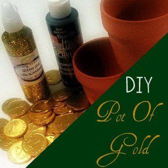 DIY pot of gold Tutorial #stpatricksdayAmount, Pot Of Gold, Gift Idead, Tutorials Stpatricksday, Gold Tutorials, Las Latas, Diy Pots, La Cantidad, With The