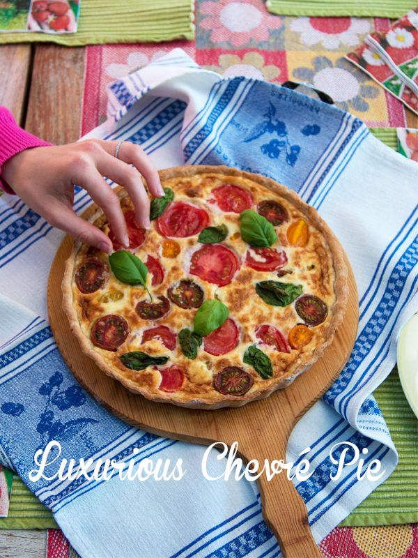 Chevré and Tomato Pie – A Luxurious Cheese Pie with a Healthy Pie Crust