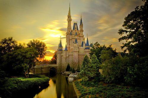 Sunset over Cinderella Castle