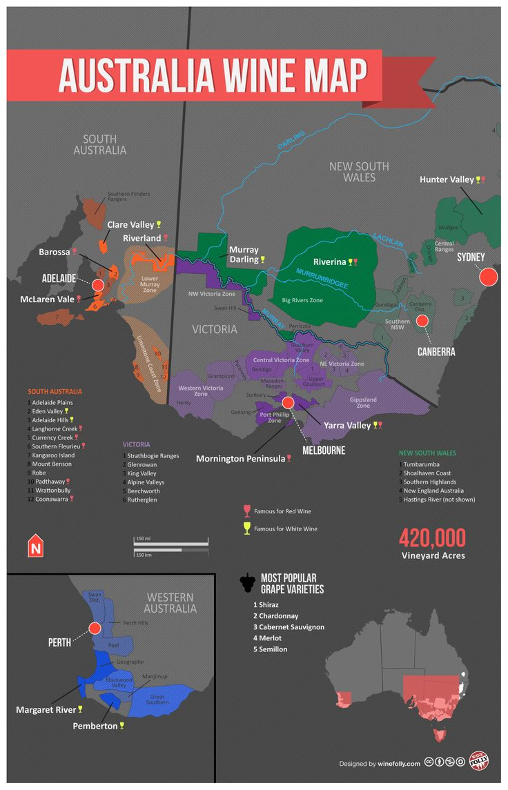 Australia-Wine-Regions-Map   #travel #vacation #information This Pin re-pinned by www.avacationrental4me.com