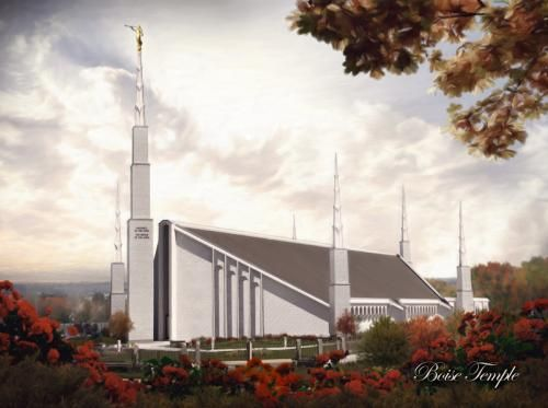 looking for a pic of the boise temple for my living room....i don't love the standard one that lds distrubtion has... Boise Temple by Brent Borup