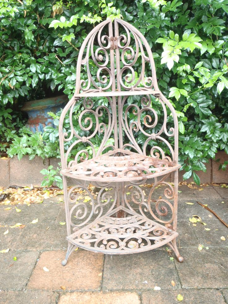 Decorative Three Tier Wrought Iron Stand Wrought Iron