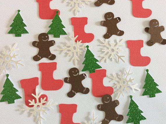 Christmas confetti Christmas party decorations Christmas