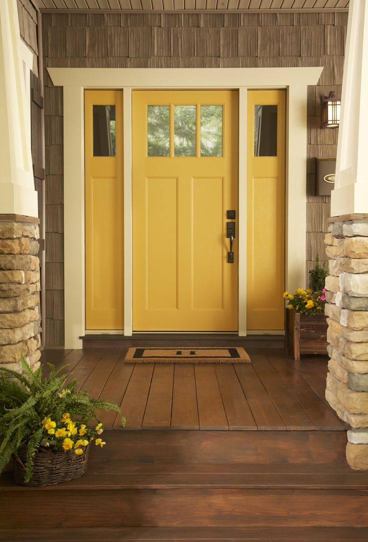 17 best images about curb appeal 101 on pinterest portal for Front door yellow house