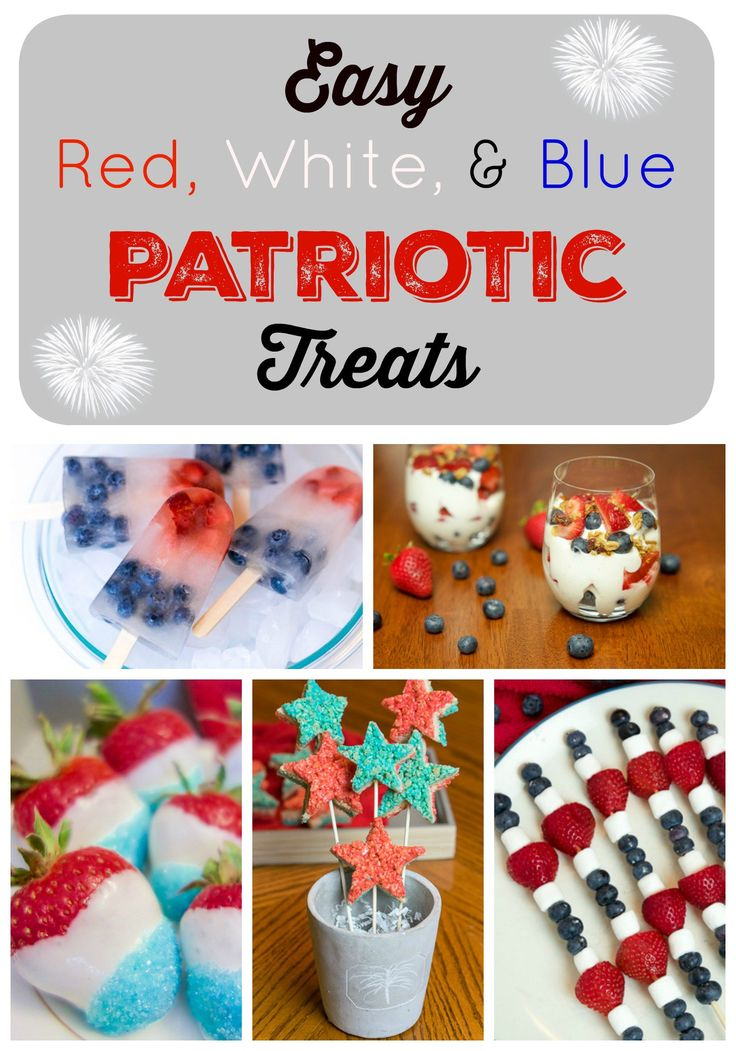 Here are some amazingly easy red, white, and blue patriotic treats. Add a festive flair to any party or gathering this coming holiday.