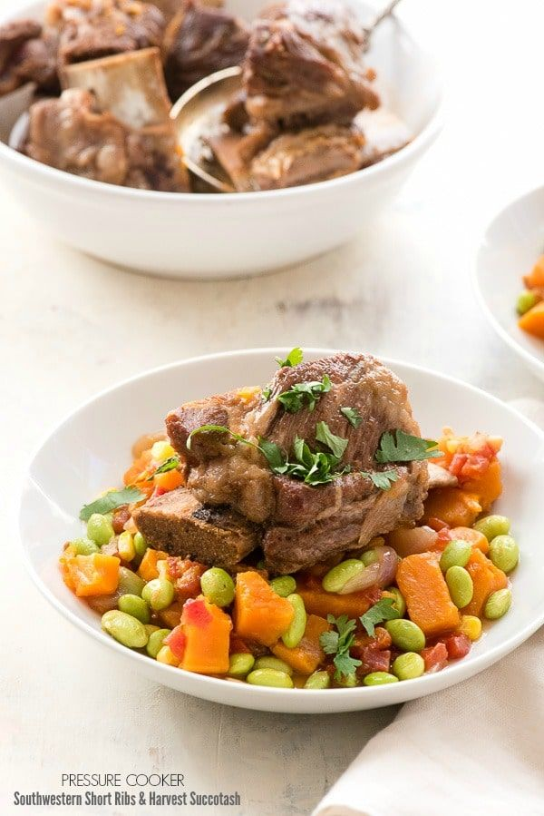This delicious soul-warming fall recipe for Southwestern Short Ribs and Harvest Succotash was cooked in 35 minutes in a pressure cooker! Have you cooked in a pressure cooker? The recipe and the scoop on my experience. I have been curious for some time about cooking with pressure cookers. I grew up with my mother using...