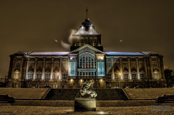 Winter night in Szczecin
