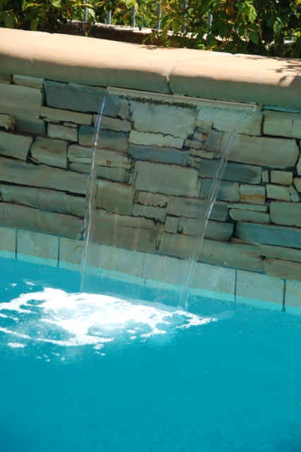 35 best images about pool water features on pinterest for Water pool design