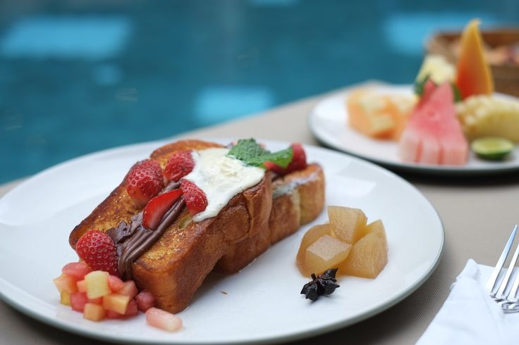 A breakfast made with love! This French Toast just happens to be perfect for warm summer time, lazy weekend mornings in Bali!
